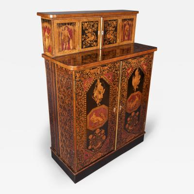 A Late Regency Penwork Cabinet English 19th C