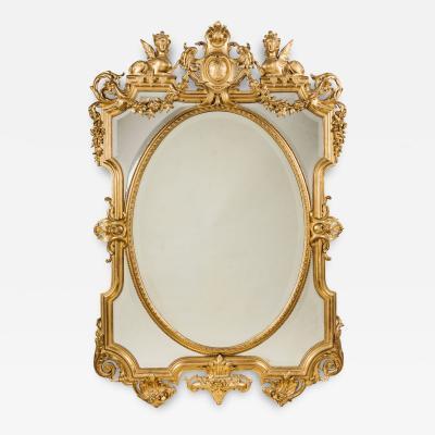A Louis XIV Style Giltwood Mirror