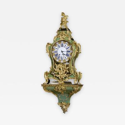 A Louis XV Corne Verte Bracket Clock