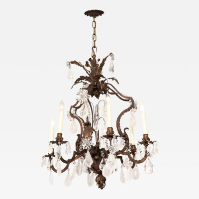 A Louis XV Style Six Light Cage Form Chandelier
