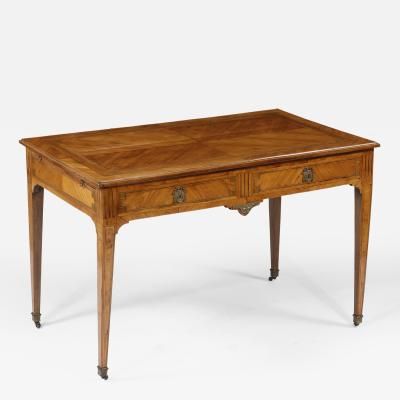 A Louis XVI Kingwood Tulipwood Inlaid Writing Desk with Bronze Mounts