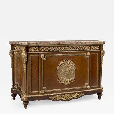 A Louis XVI Style Parquetry Commode