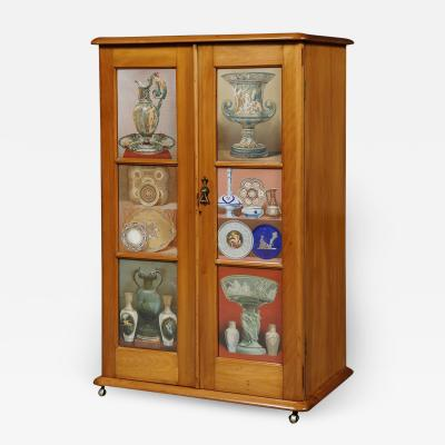 A Maple Side Cabinet Mounted With Illustrations Of Great Exhibition Objects