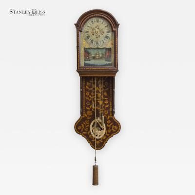 A Marquetry Freisland Clock with Automata Netherlands c 1800