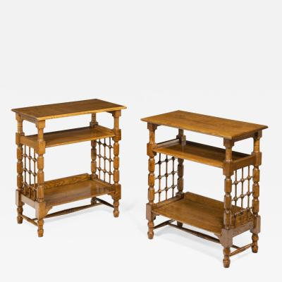 A Matched Pair of Oak Side Tables Attributed to Liberty s