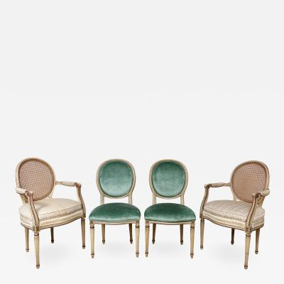 A Matched Set of 6 Louis XVI Dining Chairs