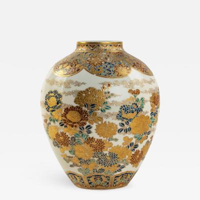 A Meiji period Satsuma earthenware vase