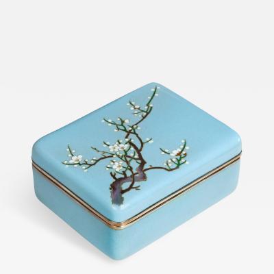 A Meiji period cloisonn box
