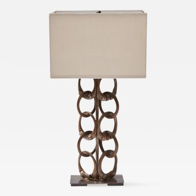 A Metal Chain Link Table Lamp