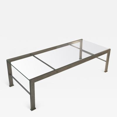 A Metal and Glass Coffee Table After A Design by Marc Du Plantier
