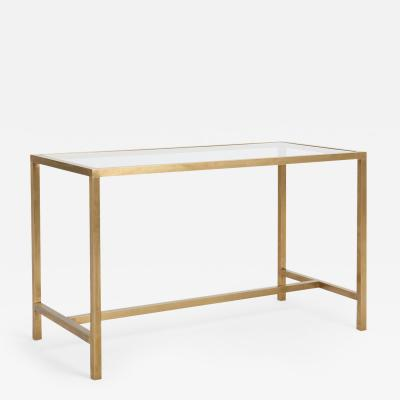 A Mid Century Brass Desk