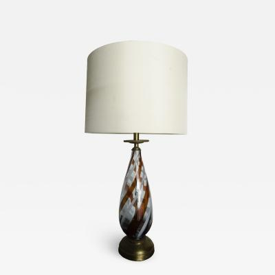A Mid Century modern glass lamp Italy circa 1960