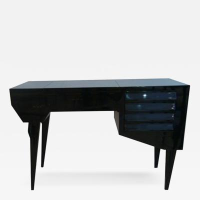 A Modernist Vanity in Black Lacquer