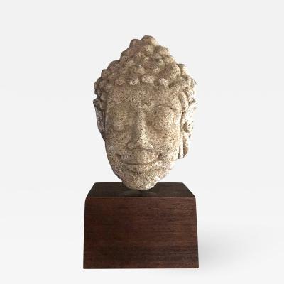 A Mon Dvaravati Style Buddha Head from Thailand