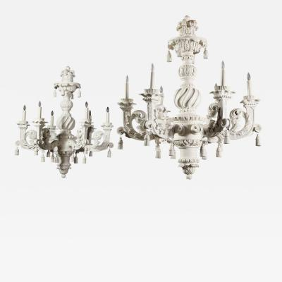 A Monumental Pair of William Mary Chandeliers 19th C