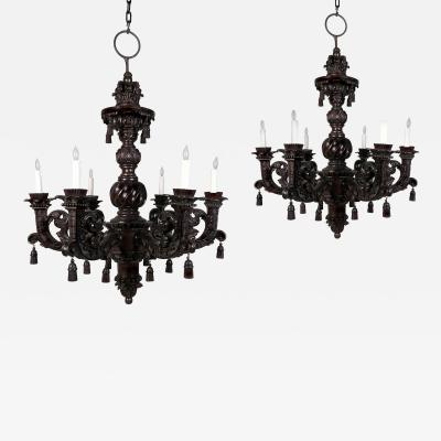 A Monumental Pair of William and Mary Style Chandeliers