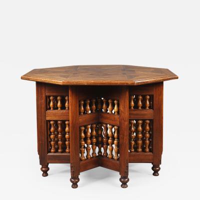 A Moorish style octagonal table