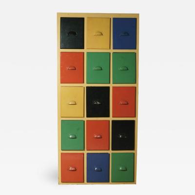 A Multicolor Storage Cabinet