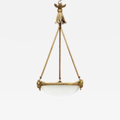 A Napoleon III Alabaster Hanging Lamp