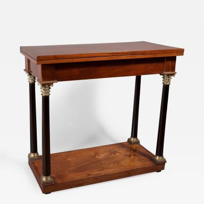 A Neoclassical Mahogany Card Table German Possibly Berlin ca 1800