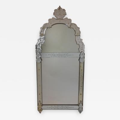 A Northern European Regence Period Glass Mirror