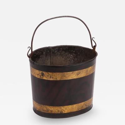A Painted Metal Bucket