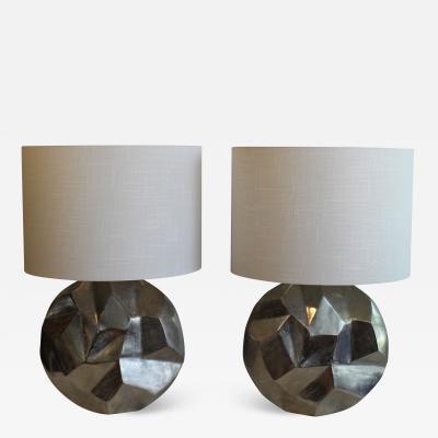 A Pair Gaetano Sciolari Inspired Table Lamps