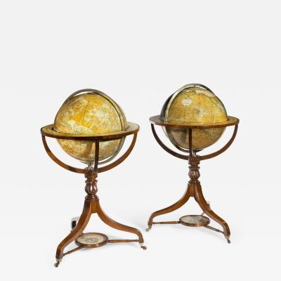 A Pair Of Early Victorian 18 Inch Globes By Smith Son
