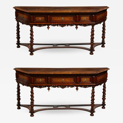A Pair of 19th C Dutch Consoles