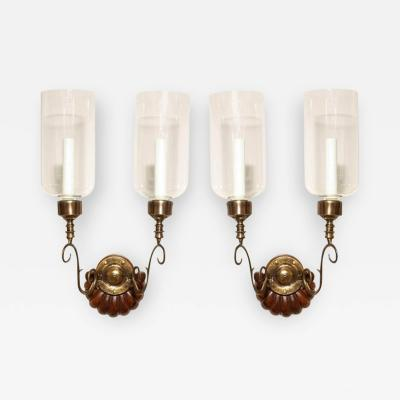 A Pair of Anglo Indian Two Light Sconces