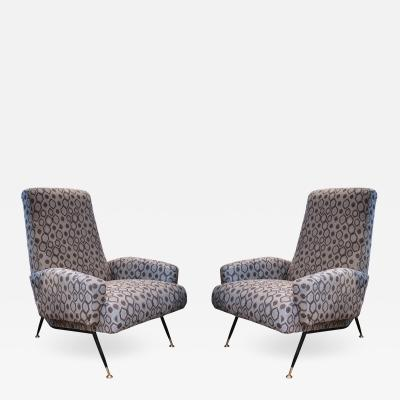 A Pair of Armchairs Italy 1960