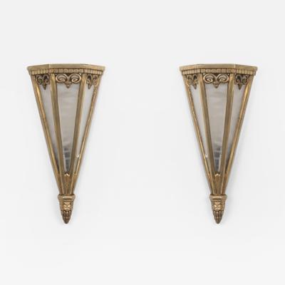 A Pair of Art Deco Sconces