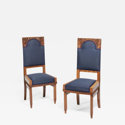 A Pair of Art Nouveau Chairs by Bohumil Waigant