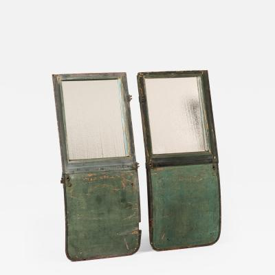 A Pair of Carriage Doors as Mirrors