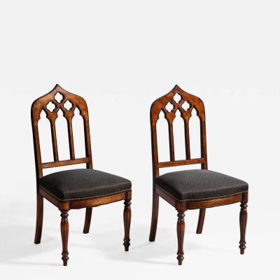 A Pair of Charles X Side Chairs 19th C