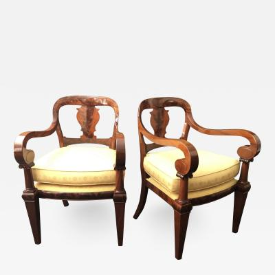 A Pair of Classical Armchairs