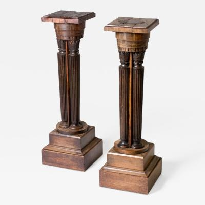 A Pair of Classical Pedestal Stands or Plinths