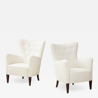 A Pair of Danish Club Chairs Circa 1940s