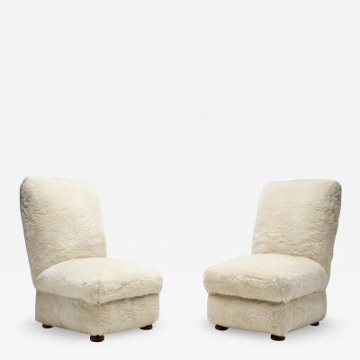 A Pair of Danish Slipper Chairs Denmark 1930s