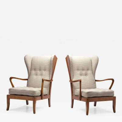 A Pair of Danish reklapstolen Chairs Denmark 1950s
