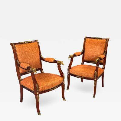 A Pair of Empire Revival Armchairs