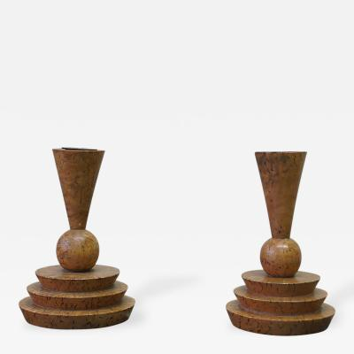 A Pair of Expressionist Candlesticks