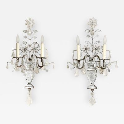 A Pair of French Bagues Style 2 Light Wall Sconces