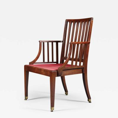A Pair of George III Mahogany Armchairs Of Cockpen Design