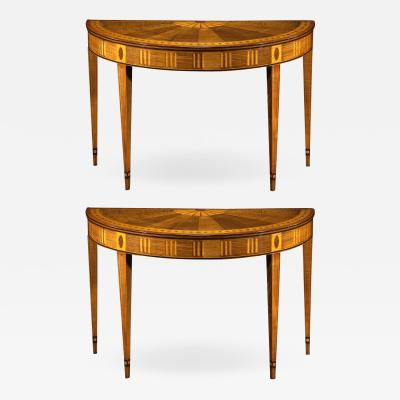A Pair of Irish George III Console Tables