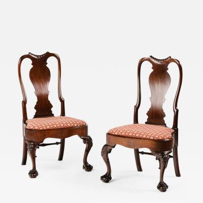 A Pair of Irish Mahogany Side Chairs