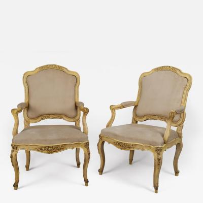 A Pair of Italian Rococo Armchairs