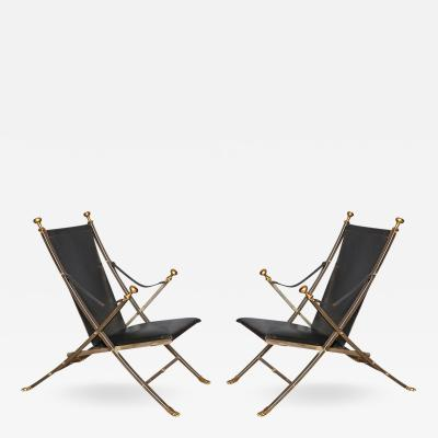 A Pair of Jansen Style Campaign Chairs