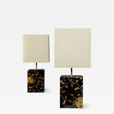 A Pair of Japanese Lacquer Lamps