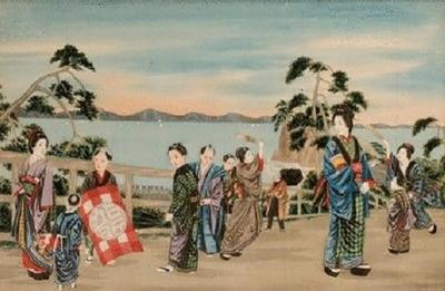 A Pair of Japanese Watercolours on Silk